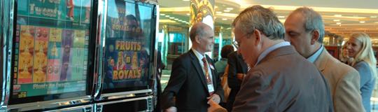 Novomatic Glücksspielautomaten in Casino; Bild: Novomatic