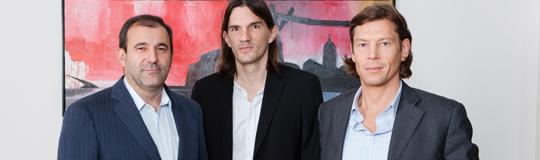Boris Nemsic, neuer Aufsichtsratsvorsitzender der I-NEW AG; CEO Peter Nussbaumer; Thomas Polak, Aufsichtsrat der I-NEW AG