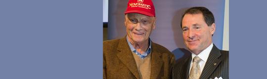 Niki Lauda mit Novomatic-Boss Franz Wohlfahrt