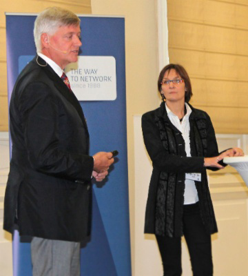 Michael Engelbert (BMF) und Karin Wegscheider (BRZ)