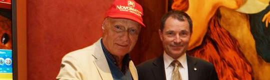 Niki Lauda und Dr. Franz Wohlfahrt