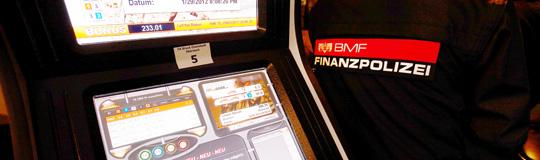 Die Finanzpolizei kann jederzeit bei VERDACHT auf illegales Glücksspiel Automaten beschlagnahmen