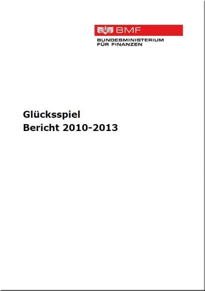 Glücksspiel Bericht 2010-2013