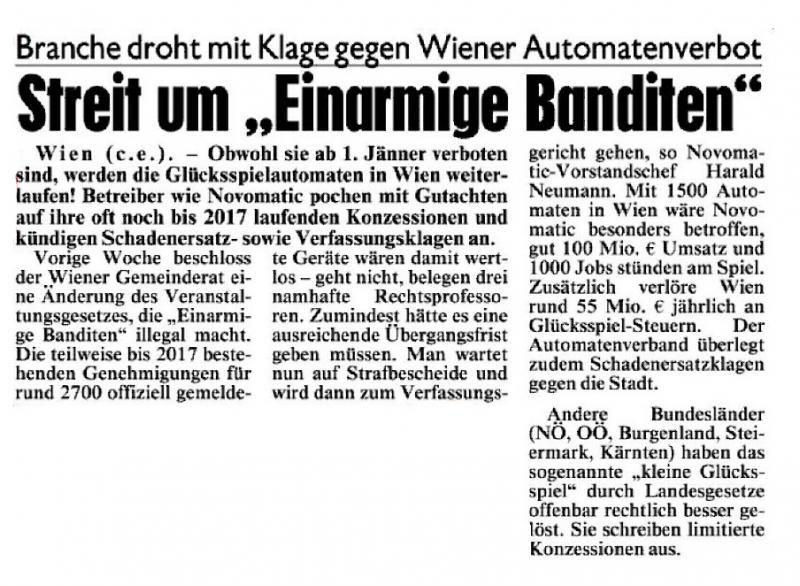 Kronen Zeitung - 1.12.2014