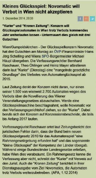 Der Standard - 1.12.2014