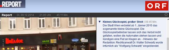 """ORF-Report: """"Kleines Glücksspiel, Wien"""""""