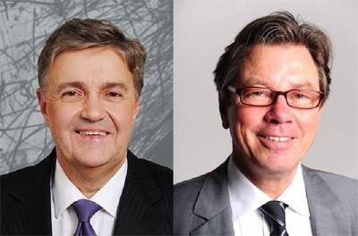 Die Geschäftsführer der Saarland-Sporttoto GmbH, Michael Burkert (li) und Peter Jacoby; Bild: ©Saarland-Sporttoto GmbH