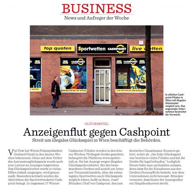 FORMAT: Anzeigen gegen Gauselmann-Firma Cashpoint