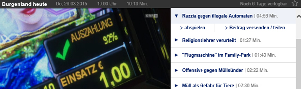 Burgenland: Razzia gegen illegale Automaten