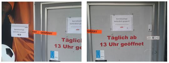 Betriebsschließungen in Laakirchen/OÖ