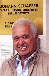Johann Schaffer, 34 Jahre lang Chefinspektor der Polizei