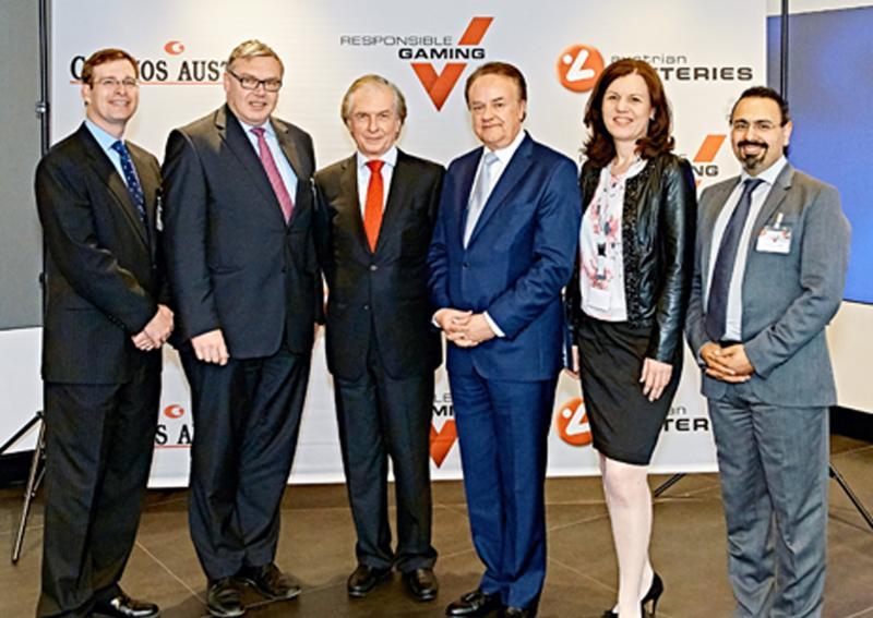 v.r.n.l: Keith S. Whyte, Philippe Vlaemminck, VD Friedrich Stickler, Herbert Beck, Doris Malischnig; Bild: © Casinos Austria/Peter Svec