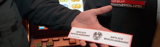 Im Juni 2015 wurden österreichweit 260 (!) illegale Automaten beschlagnahmt!