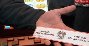 Beschlagnahmte illegale Automaten in ganz Österreich – 2015 bis März 2019