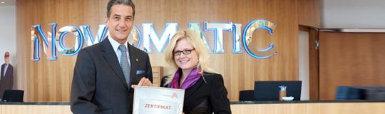 Harald Neumann und Monica Rintersbacher; Bild: © NOVOMATIC AG/Sabine Klimt
