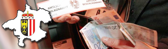 Oberösterreich: Liste der illegalen Geldspielautomaten; Bild: BMF und Land OÖ