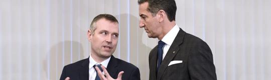 Novomatic Vorstands-Vorsitzender Mag. Harald Neumann und Pavel Horak, Vorstandsmitglied der Sazka Group. © APA/Robert Jäger