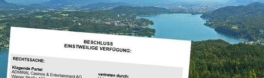 Einstweilige Verfügung in Kärnten.