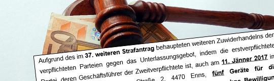 100.000 Euro Strafe in Oberösterreich. © Spieler-Info