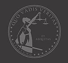 """Hohe Ideale: Die Figur der Justitia ziert das Emblem der Stiftung """"Quo Vadis Veritas"""". Bild: Screenshot """"Addendum""""."""